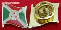 Burundi Flag Lapel Hat Cap Tie Pin Badge Republika y'u Burundi Rpublique du